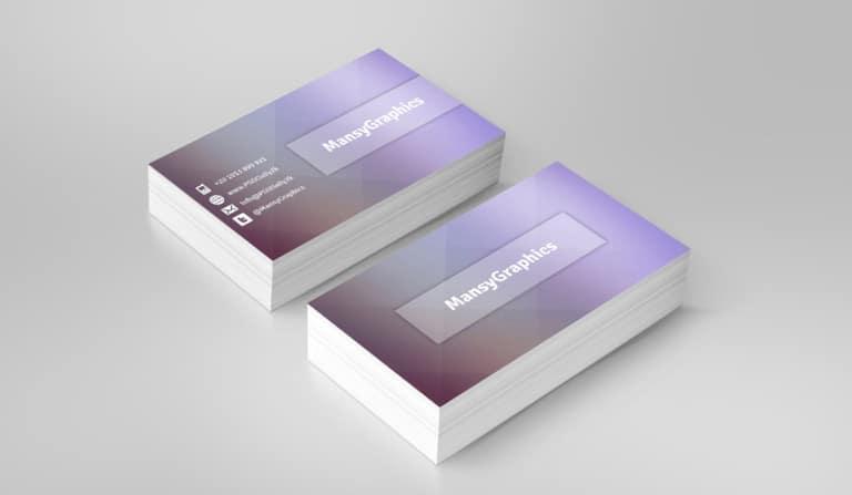 Stylish Business Card PSD
