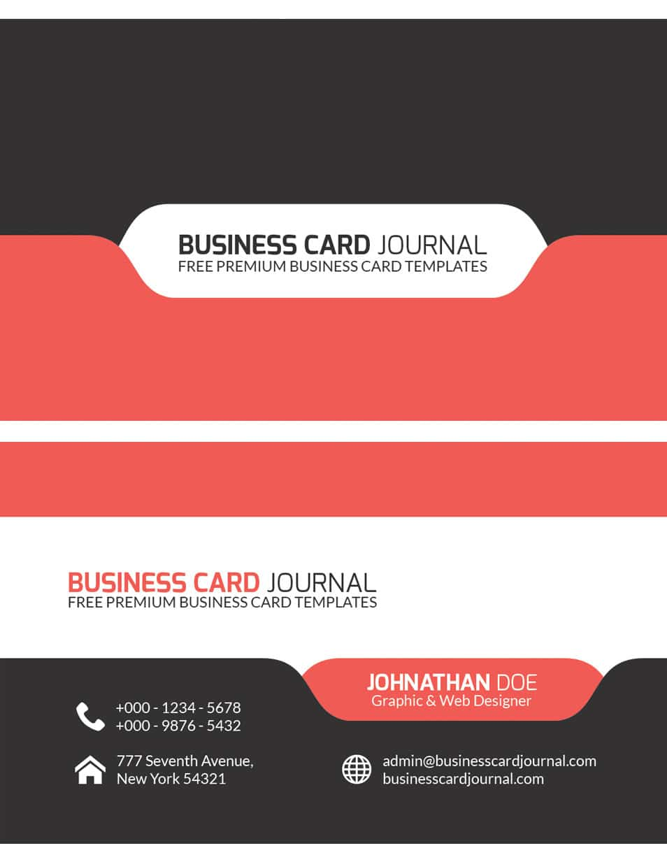 Stylish and Modern Tab Design Business Card Template
