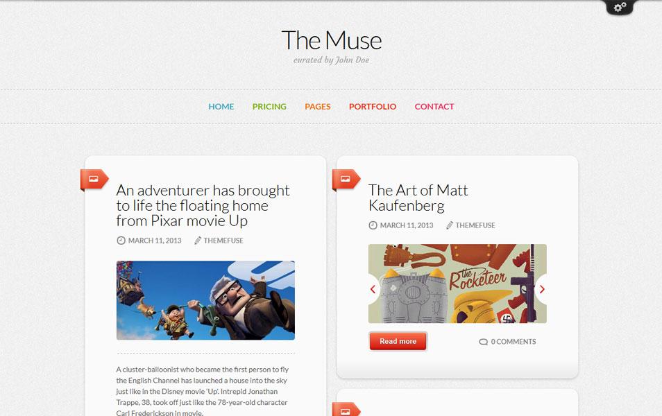The Muse - Inspiration WordPress Theme