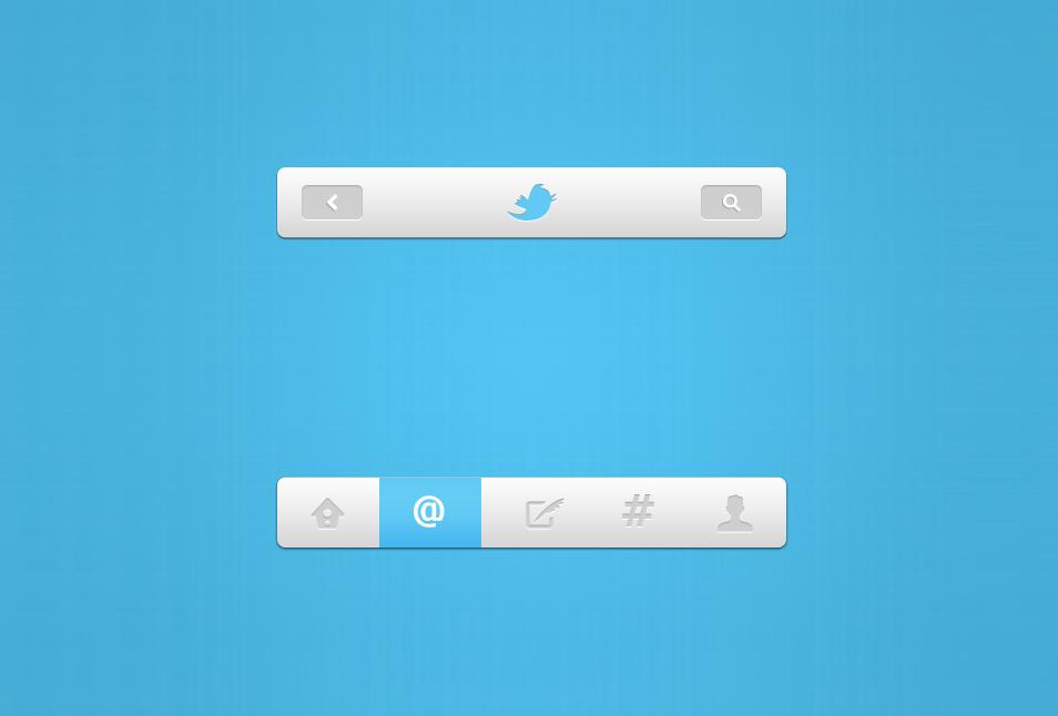 Twitter Navigation UI