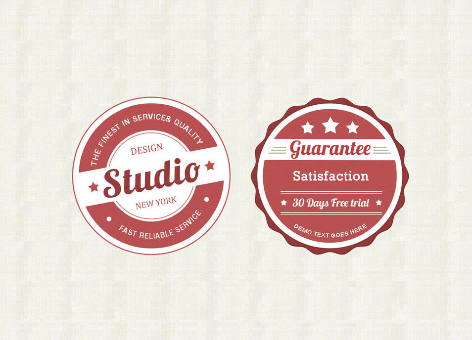 100 best free badges vector psd css author. Black Bedroom Furniture Sets. Home Design Ideas