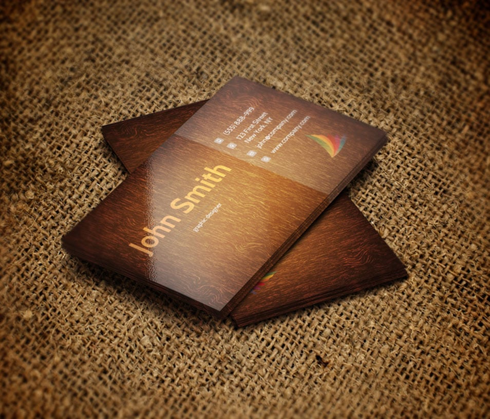 Pretty wood grain business cards contemporary business card ideas