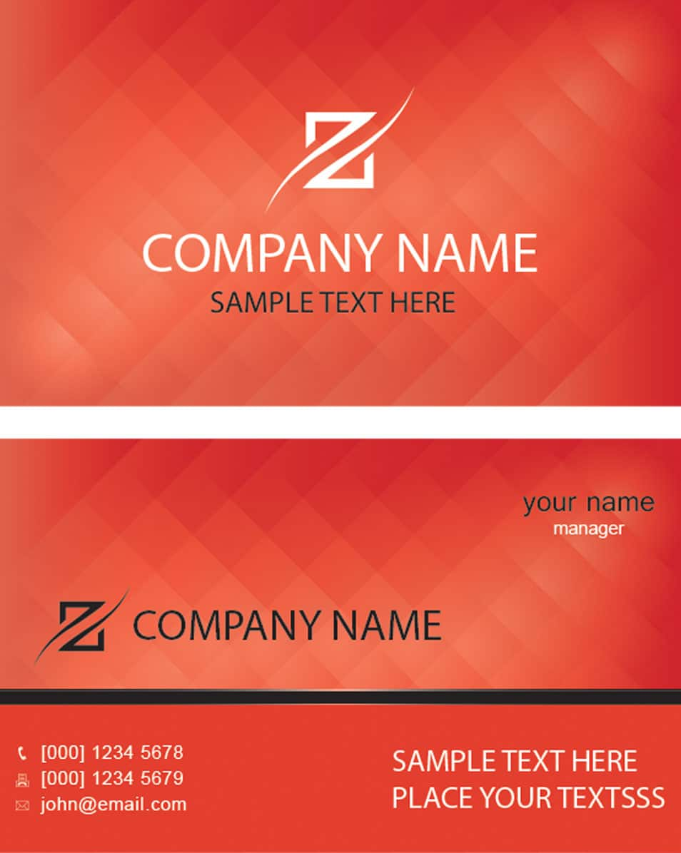 Zenith Business Card Template