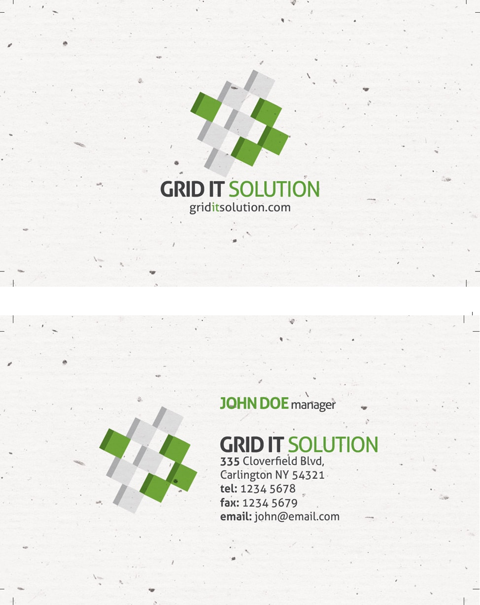 grain texture business card template