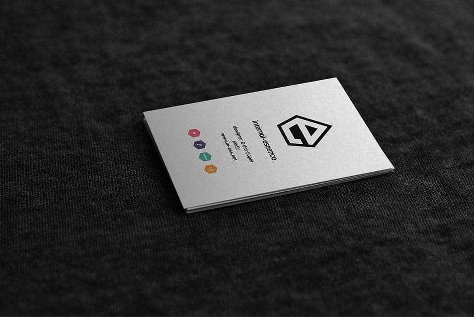 mock up business card