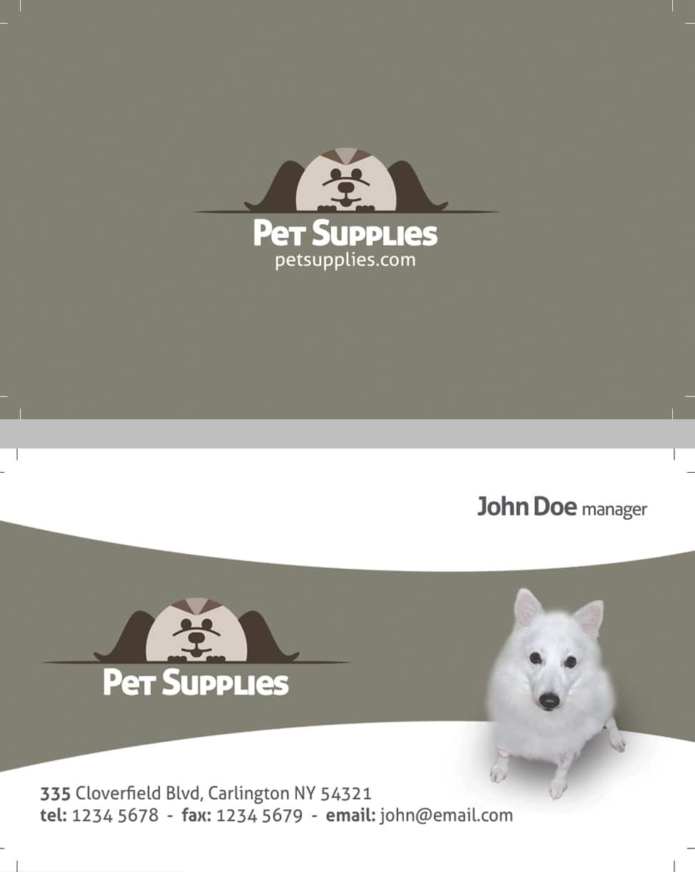 pet shop business card template