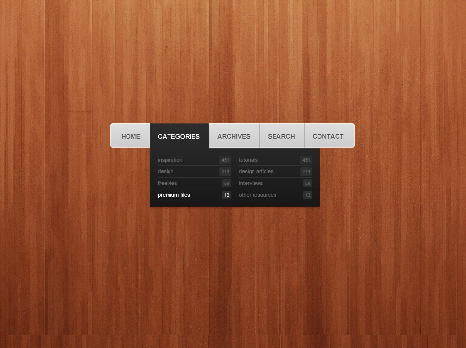 simple navigation menu