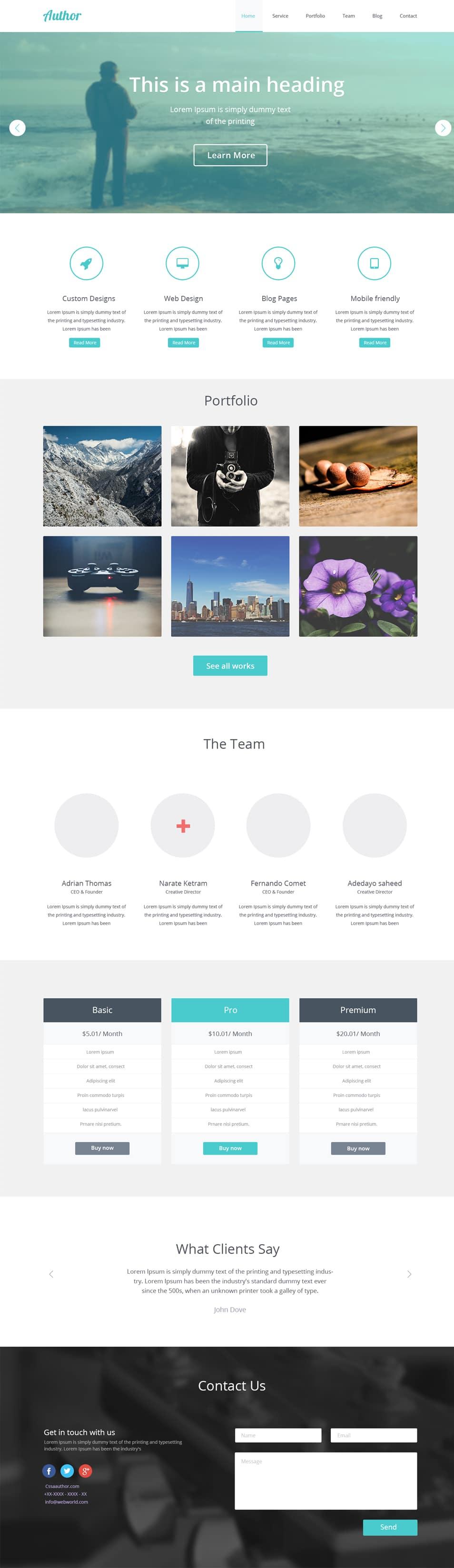 Agency Website Template PSD_Home Page_cssauthor.com