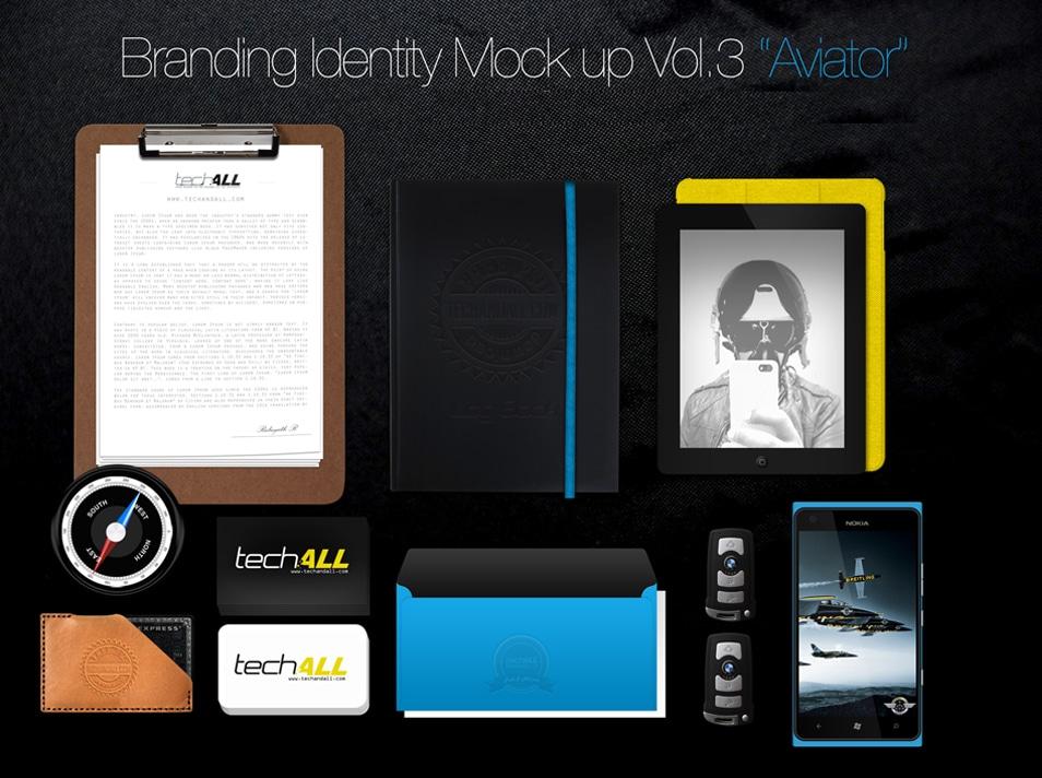 Branding Identity Mockup Aviator