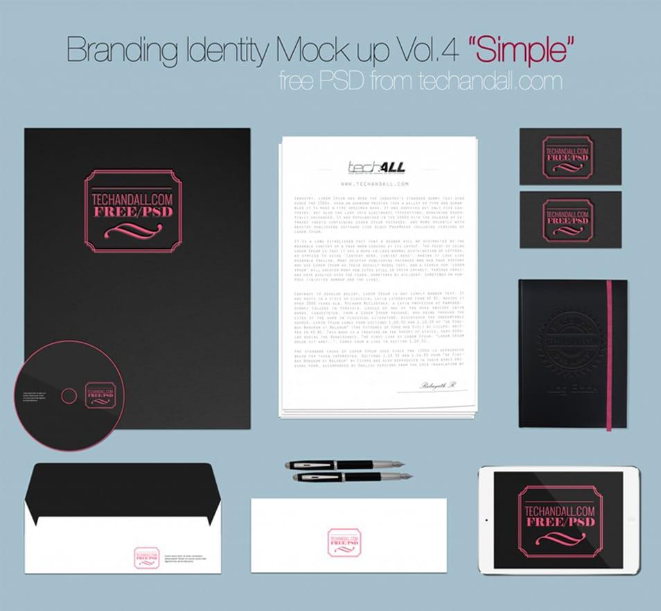 Branding Identity Mockup Simple