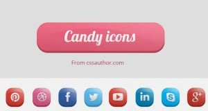 Candy Icons – Small Set of Free Beautiful Social Media Icons PSD – Freebie No:131