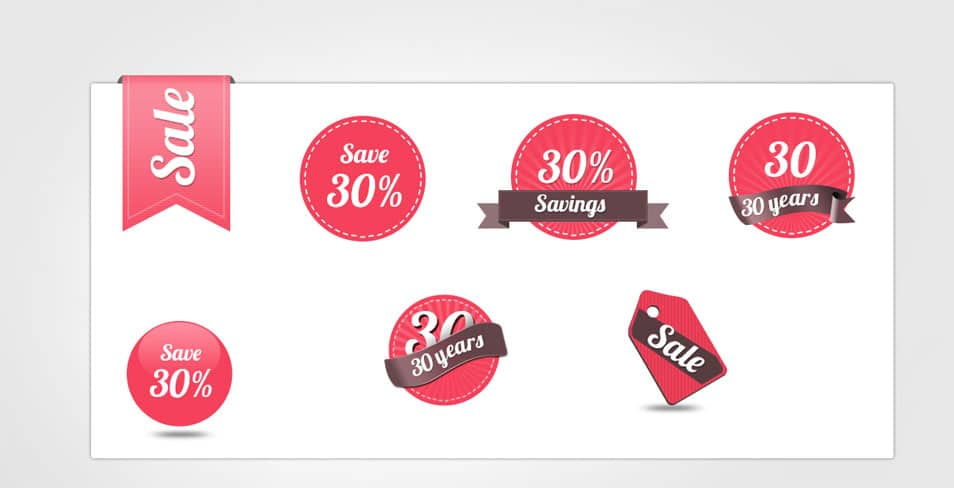 Download Free Sale Badges and Tags Template PSD