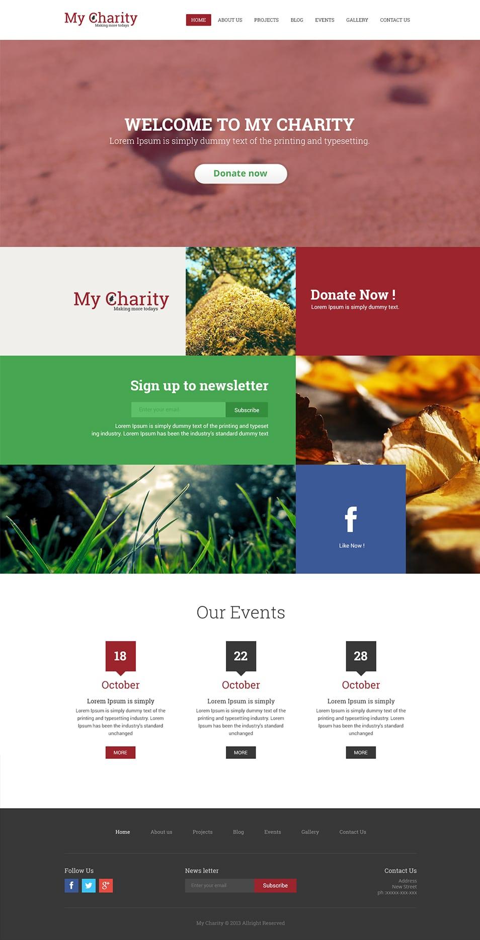 Free Charity Website Template PSD - cssauthor.com