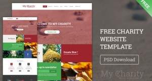 Free Charity Website Template PSD – Freebie No:132