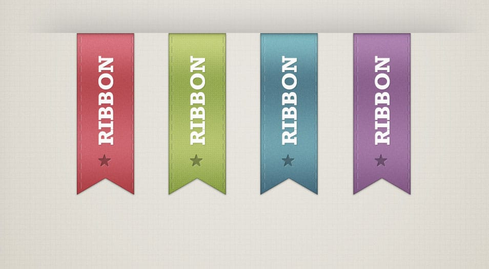 Free Ribbons PSD