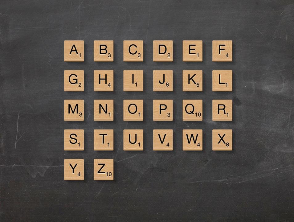 Letter Tiles PSD