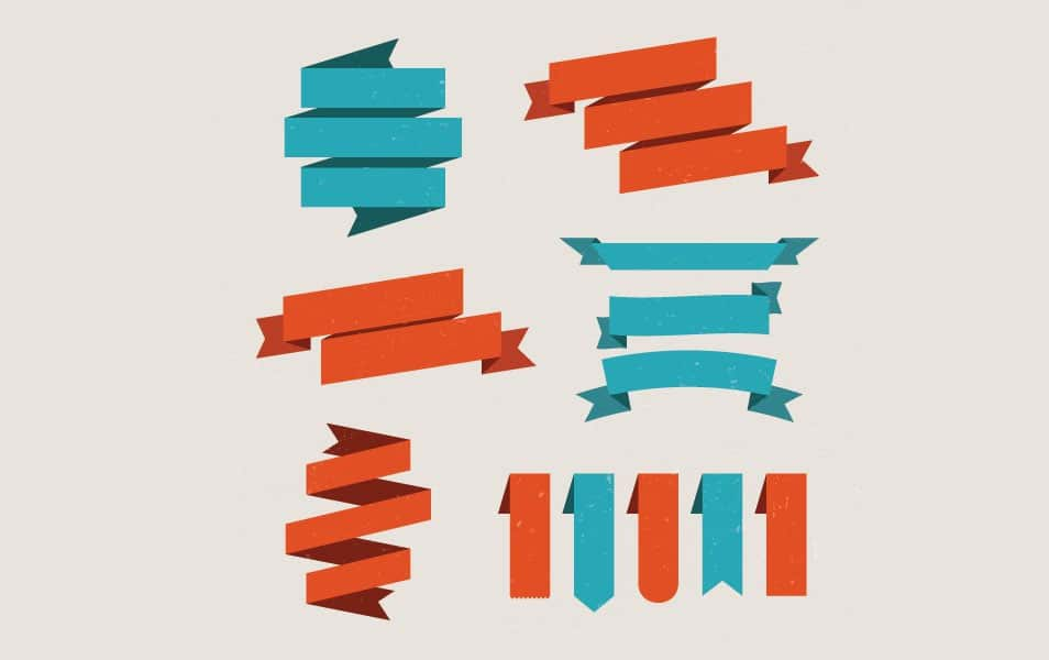 Set Of Vector Ribbons Vector Graphic