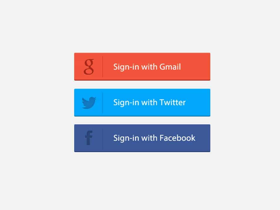 Signin Button PSD