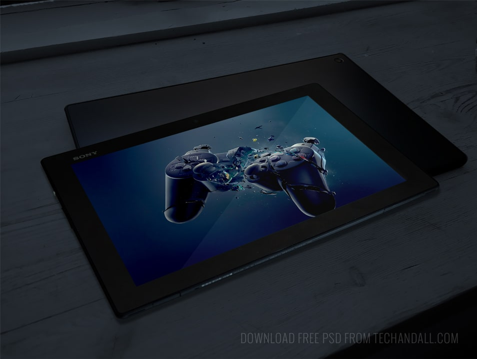 Sony Xperia Tablet Screen Mockup