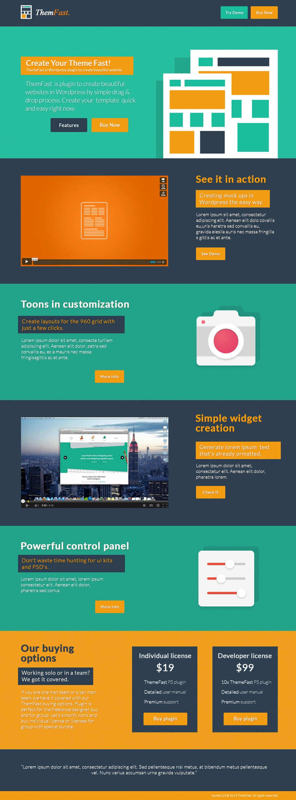 ThemFast Free PSD Template