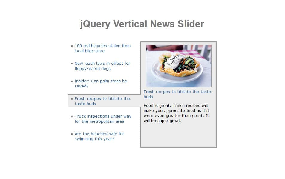 Vertical News Slider