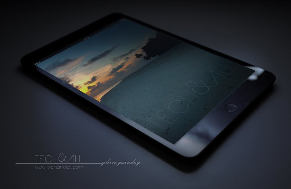 iPad Perspective Screen Mockup Gloomy Sunday