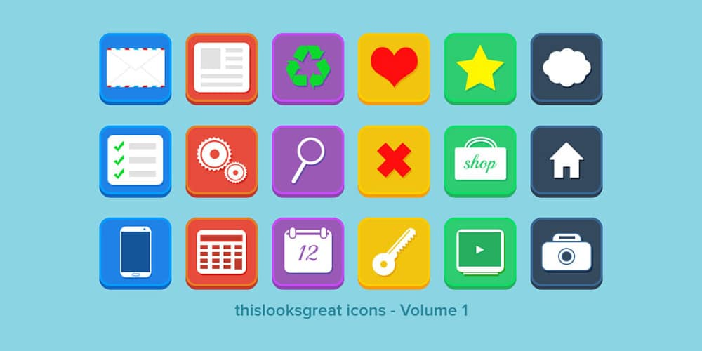 18 Flat Icons