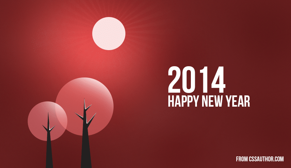 2014 New Year Greetings Card PSD 2