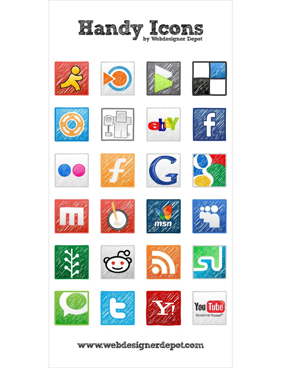 24 free and exclusive vector Handy icons