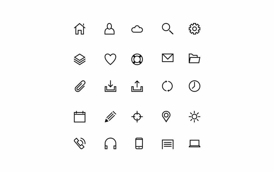 25 Line Icons