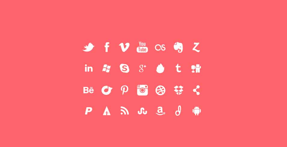 28 Social Media Icon Set