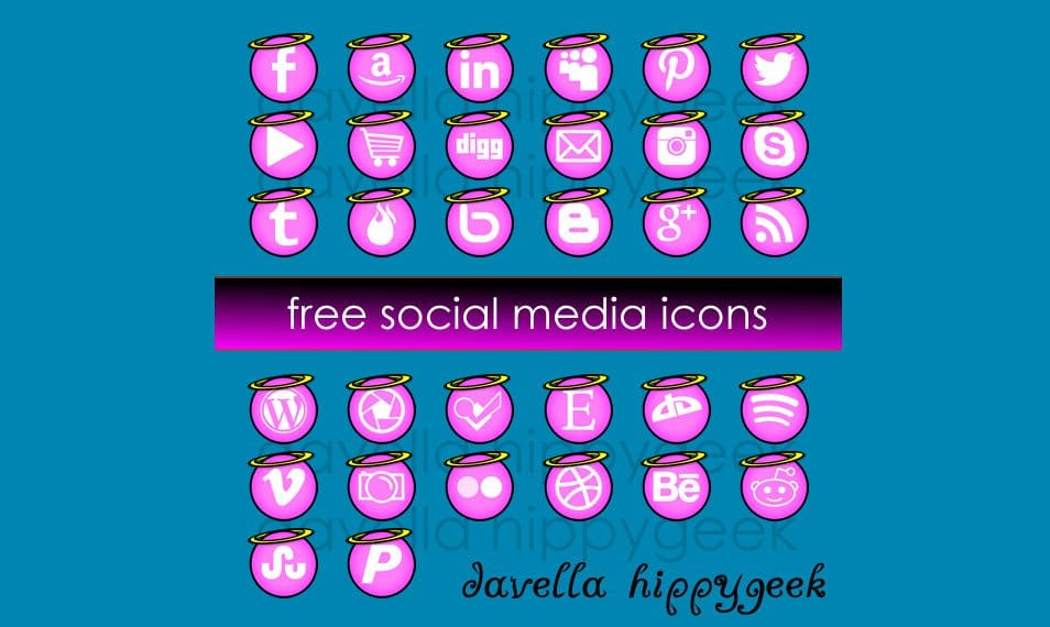 32 FREE Angel Social Media Icons