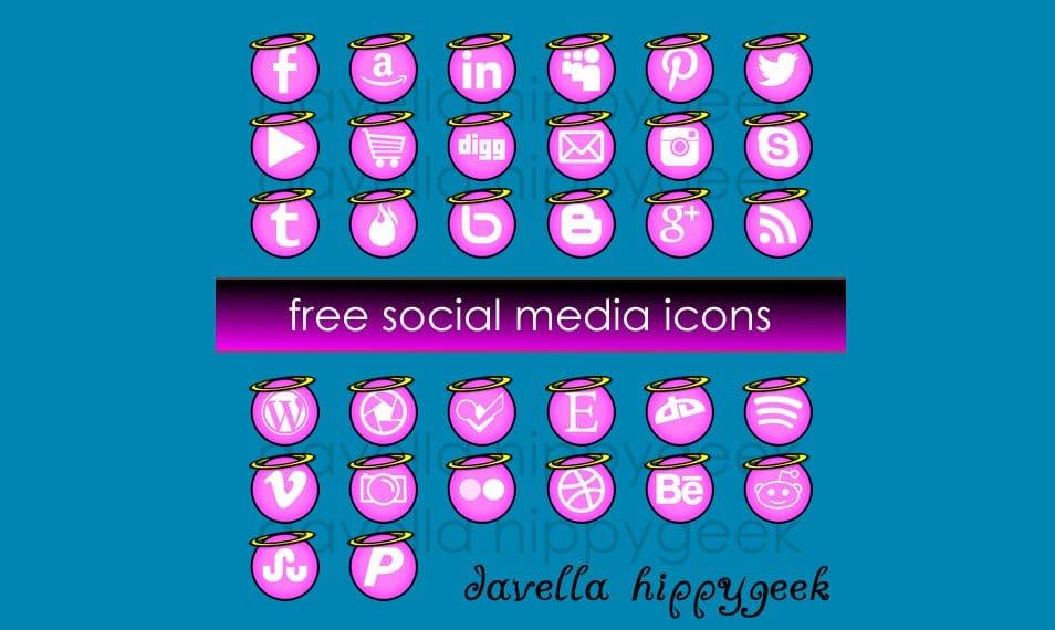 32 FREE Angel Social Media Icons