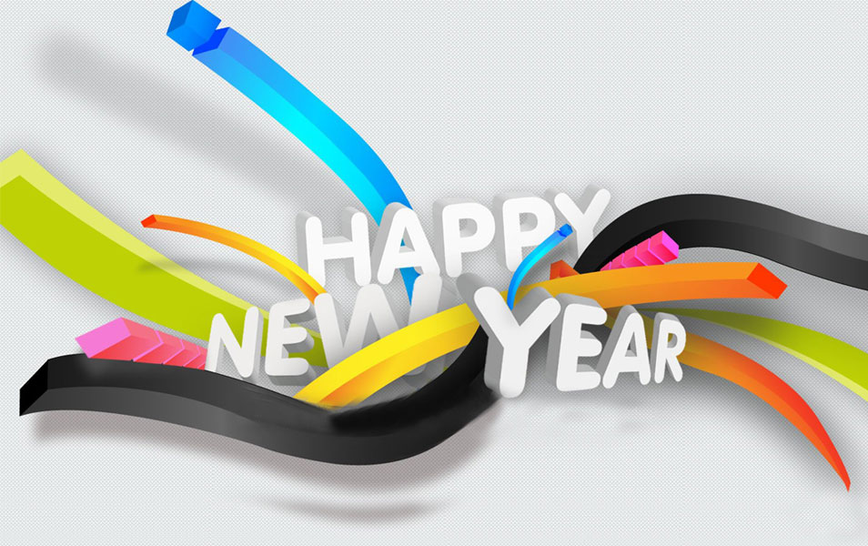 3D Wallpaper Of New Year 2014 HD