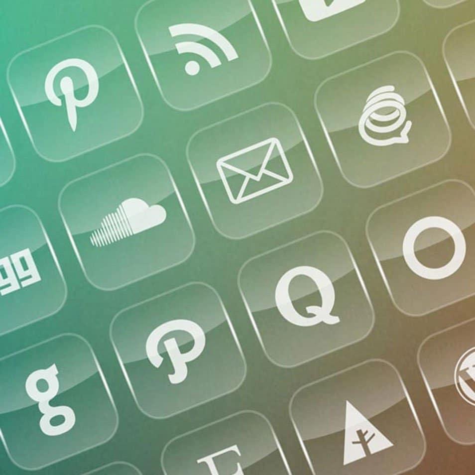 40 Free Transparent Social Media Icons