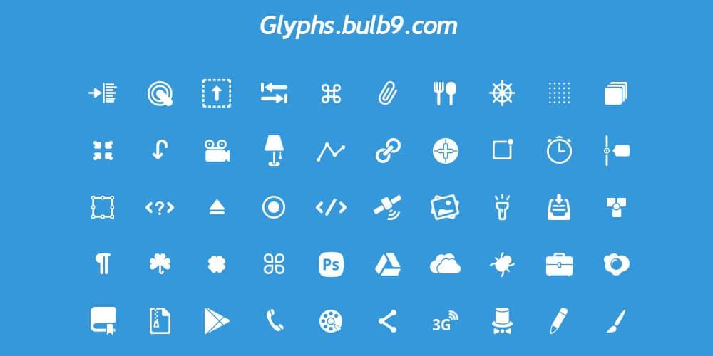 50 Glyphs PSD