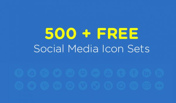 500+ Best Free Social Media Icon Sets