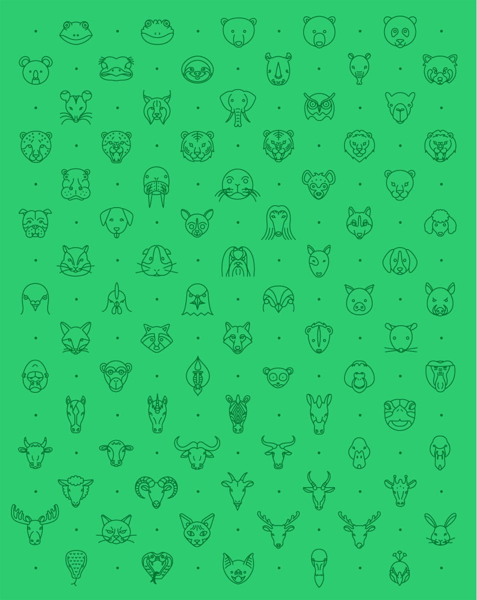 79 Animal Line Icon Set