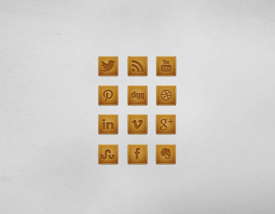 A Leather Social Media Icon Set