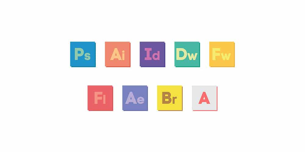 Adobe CS6 Custom Flat Icons