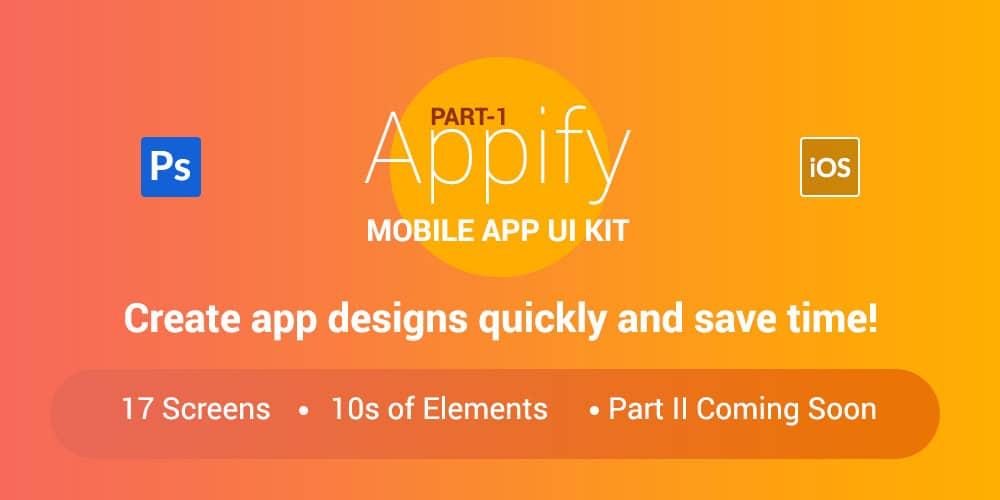 Appify Free Mobile App UI Kit PSD
