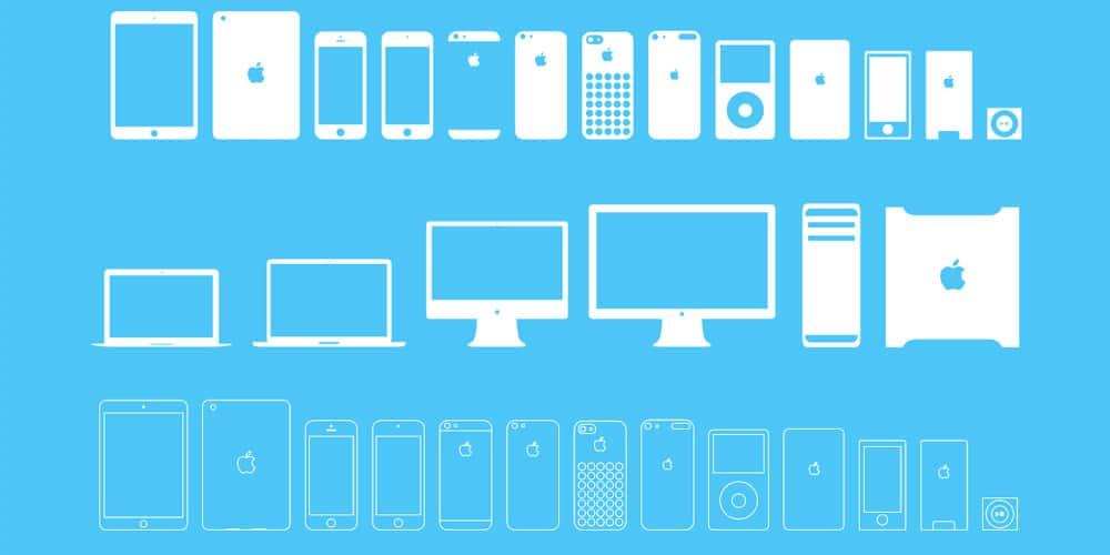Apple Devices Icons PSD