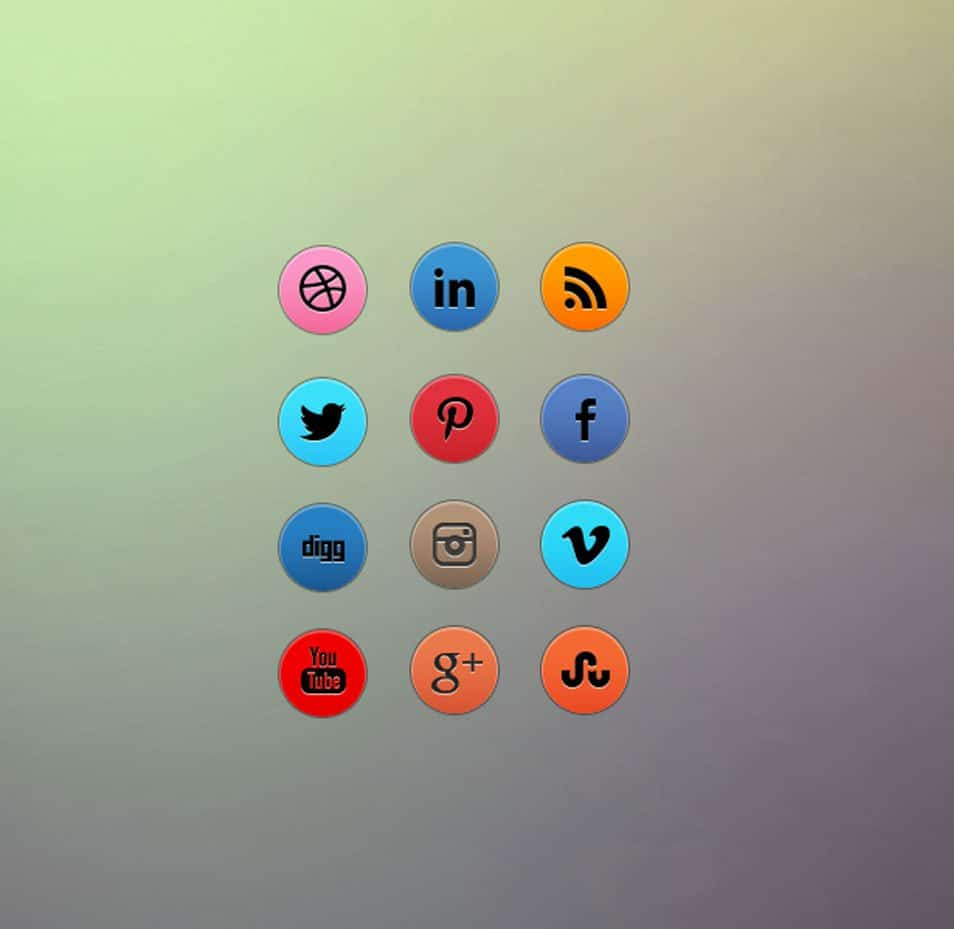 Awesome free circular social media icon set