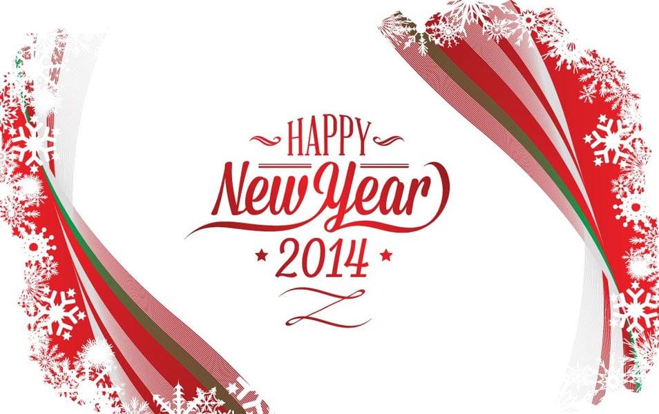 Beautiful New Year 2014 Wallpaper Design