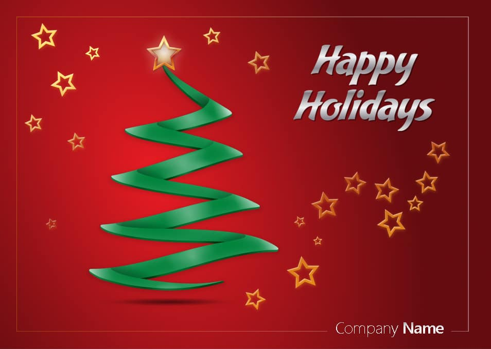 Beautiful holiday greeting card psd