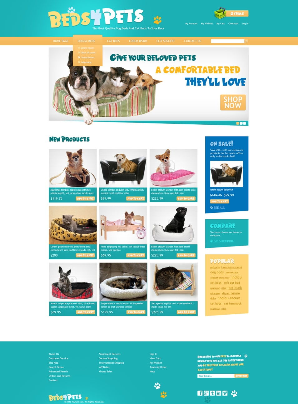 Beds4pets free website deign template
