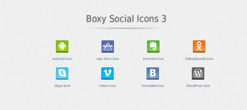 Boxy Social Icons 3