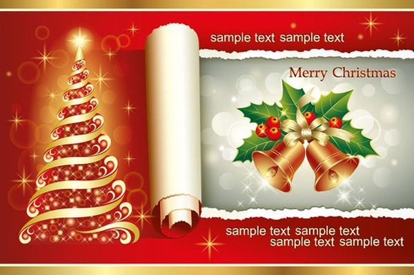 Christmas 2013 greetings card vector
