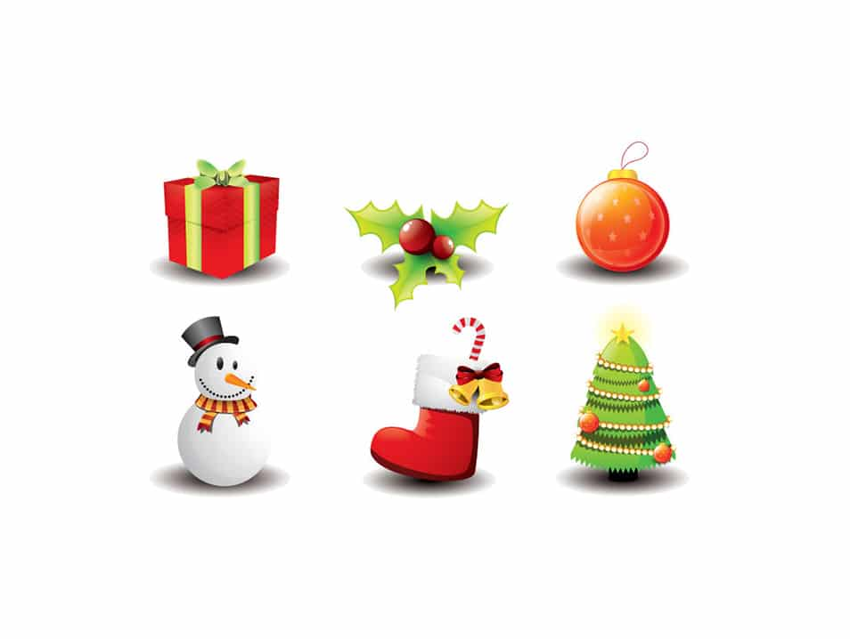 Christmas Icon Vector Set