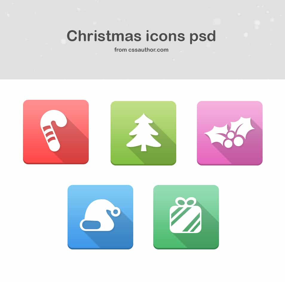 Christmas Icons PSD